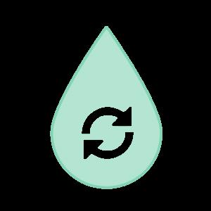 Cleaner jet fuel icon