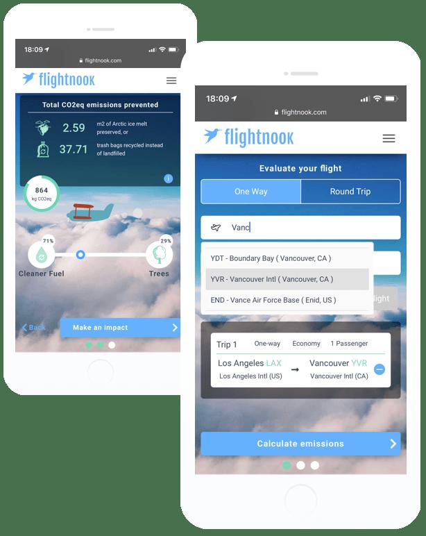 Flightnook CO2 calculator